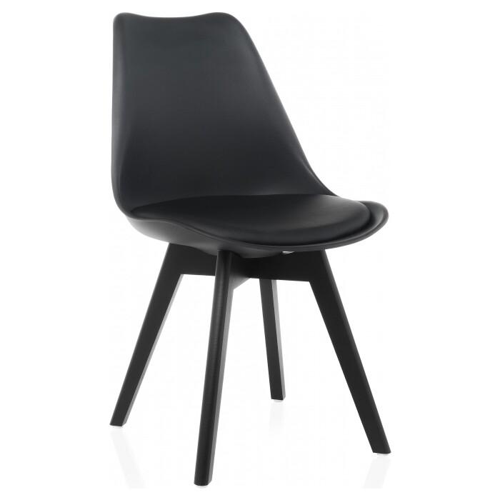 Деревянный стул Woodville Bonus black/black