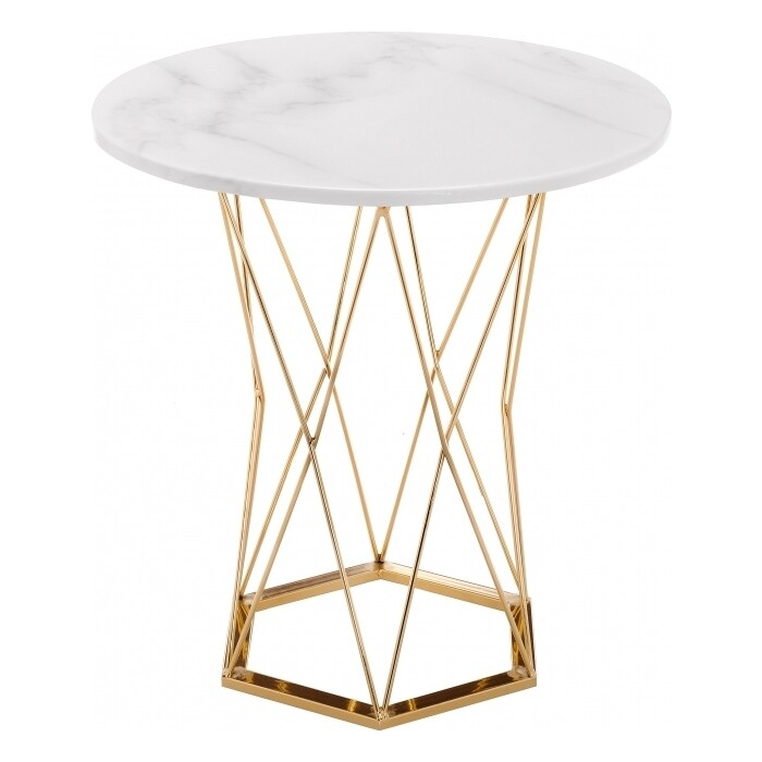 Стол Woodville Melan white/gold