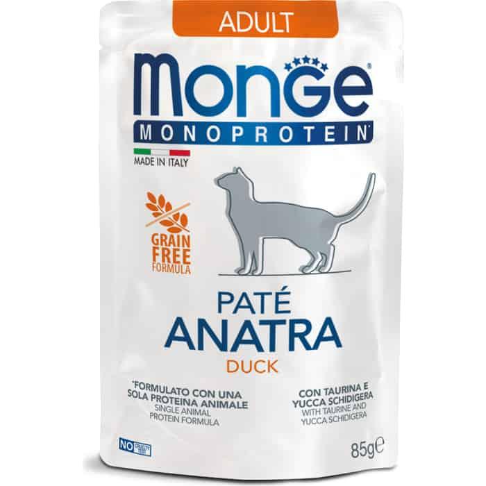 Паучи Monge Cat Monoprotein Pouch для кошек утка 85 г