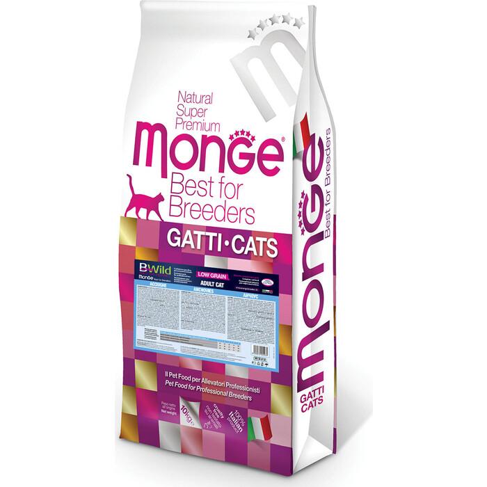 Сухой корм Monge PFB Cat BWild LOW GRAIN низкозерновой из анчоуса для взрослых кошек 10 кг