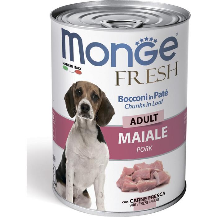 Консервы Monge Dog Fresh Chunks in Loaf для собак мясной рулет свинина 400 г