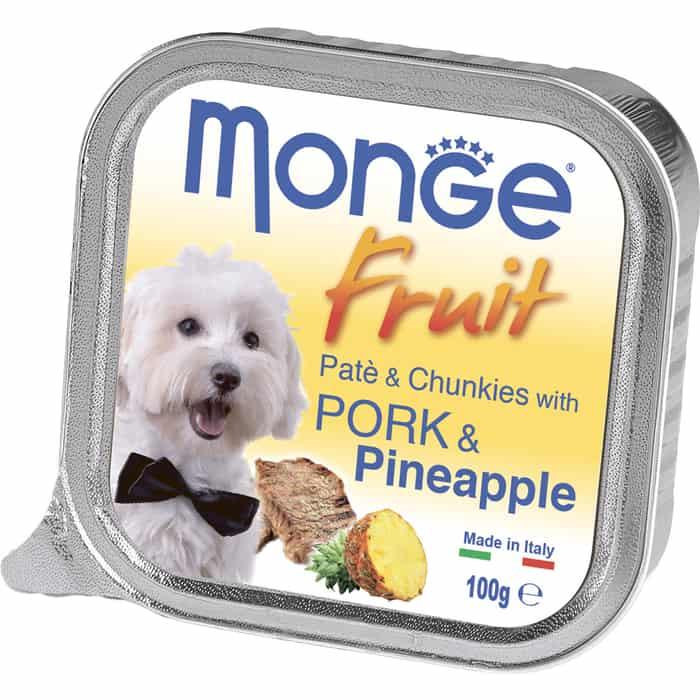 Консервы Monge Dog Fruit для собак свинина с ананасом 100 г