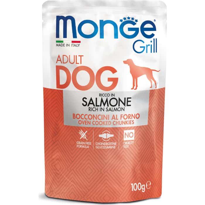 Паучи Monge Dog Grill Pouch для собак лосось 100 г