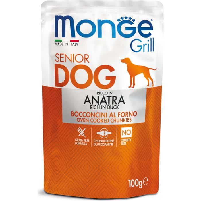 Паучи Monge Dog Grill SENIOR Pouch для пожилых собак утка 100 г