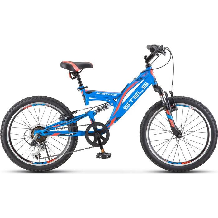 Велосипед Stels Mustang V 20 V010 13 Синий велосипед stels 2612 v