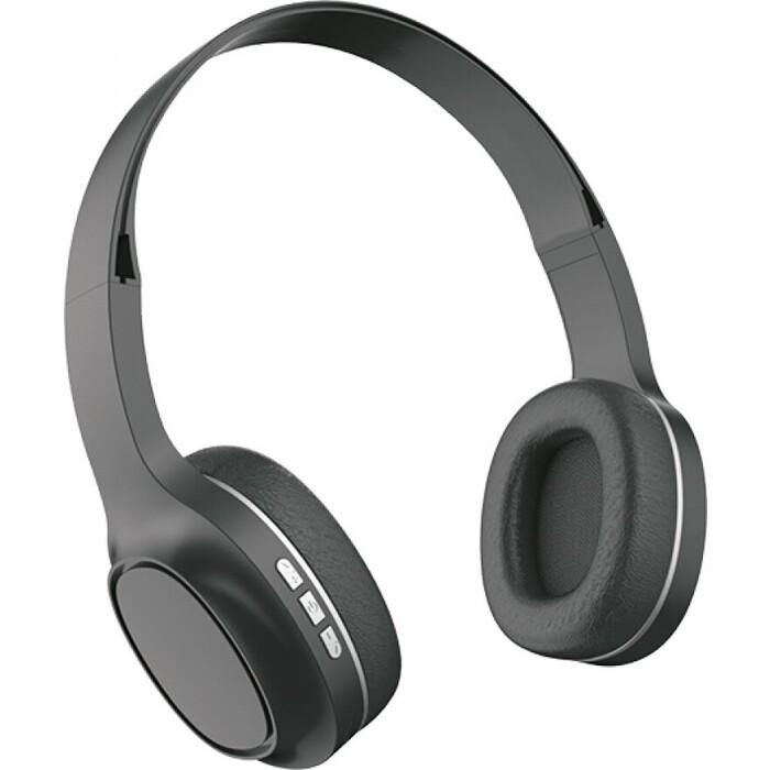 Наушники Perfeo PRIME чёрные, наушники полноразмерные беспроводные с микрофоном, MP3 плеером (PF-A4311)