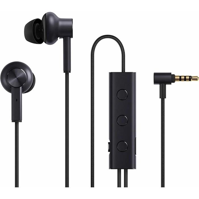 Наушники с микрофоном Xiaomi Mi Noise Canceling Earphones (вставные, 32 Ом, 100дБ, 20-40000Гц, кабель 1.35m, mini jack 3.5mm) (ZBW4386TY)