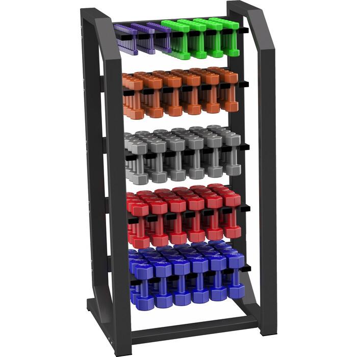 Стойка вертикальная Original FitTools для виниловых гантелей (до 60 пар)