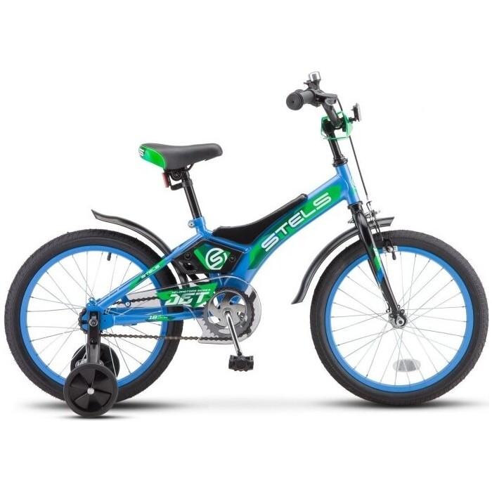 Велосипед Stels Jet 16 Z010 9 Голубой/зелёный