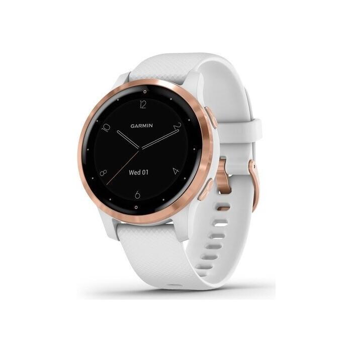 Часы Garmin vivoactive 4S, GPS, Wi-Fi, White/Rose Gold, E.EU (010-02172-23)