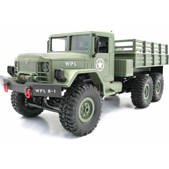 Радиоуправляемая машина WPL Army Truck 6WD KIT масштаб 1:16 2.4G - WPLB-16K-Green