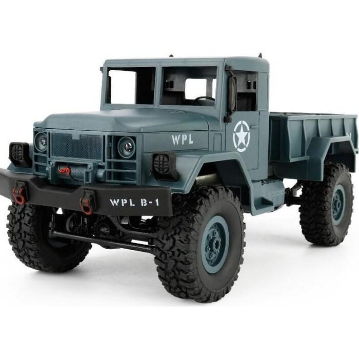 Радиоуправляемая машина WPL Military Truck KIT 4WD 2.4G масштаб 1:16 - WPLB-14K-Blue