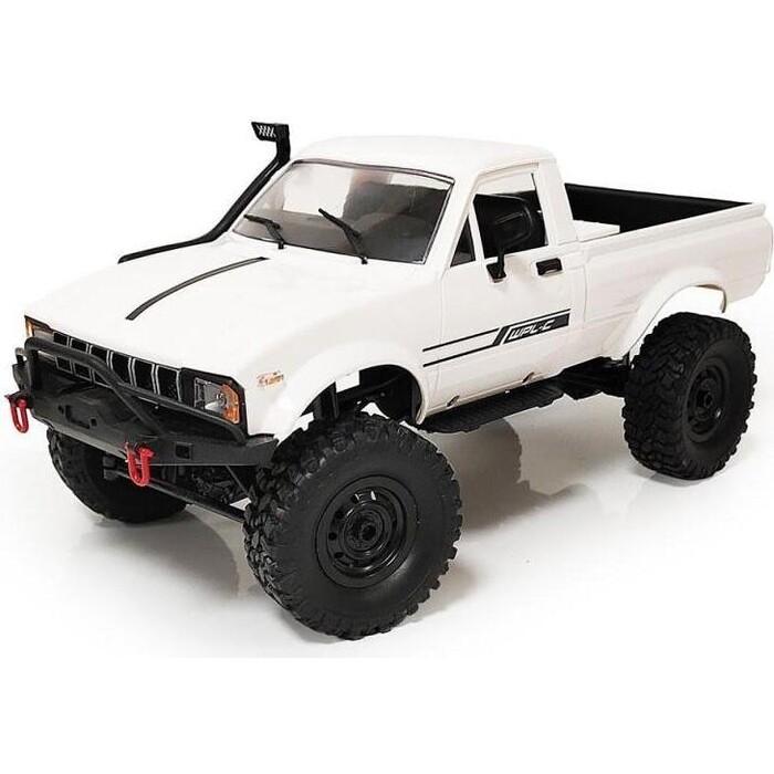 Радиоуправляемый краулер WPL Military Truck Buggy Crawler (белый) KIT 4WD масштаб 1:16 2.4G - C-24K-1KM