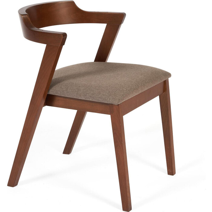 Стул TetChair Versa (Верса) мягкое сидение/каркас бук, сиденье ткань, коричневый