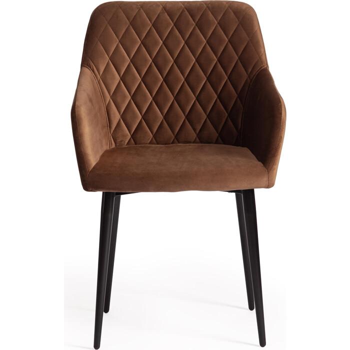 Кресло TetChair Bremo (mod. 708) ткань/металл коричневый barkhat 11/черный