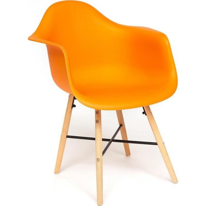 Кресло TetChair Secret De Maison Cindy (Eames) (mod. 919) береза/металл/сиденье пластик оранжевый/ orange with natural legs