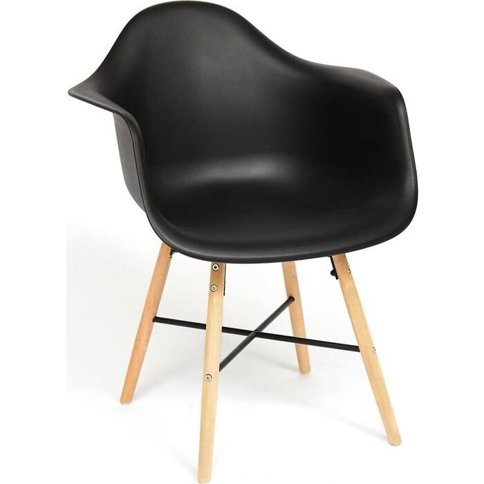 Кресло TetChair Secret De Maison Cindy (Eames) (mod. 919) береза/металл/сиденье пластик черный/ black with natural legs