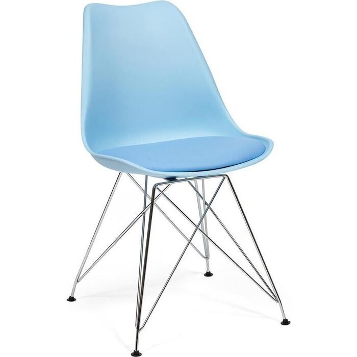Стул TetChair Tulip iron chair (mod.EC-123) пластик, железо голубой