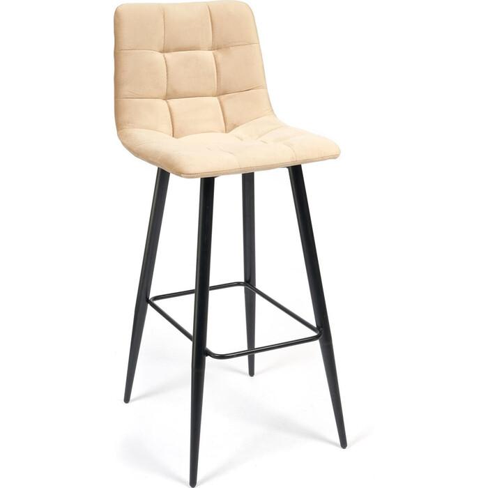 Стул барный TetChair Chilly (mod.7095) ткань/металл бежевый barkhat 5/черный барный стул tc черный 5xx43x102 5 см