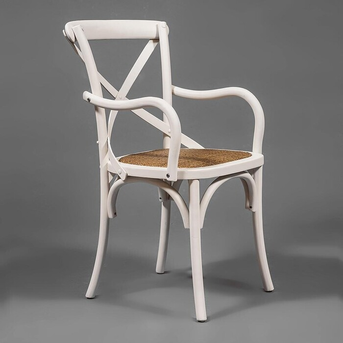 Стул с подлокотниками TetChair Secret De Maison cross (mod.CB2008) береза butter white