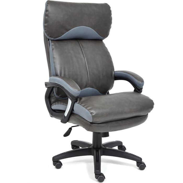 Кресло TetChair Duke кож/зам/ткань черный/серый 4321/TW-12