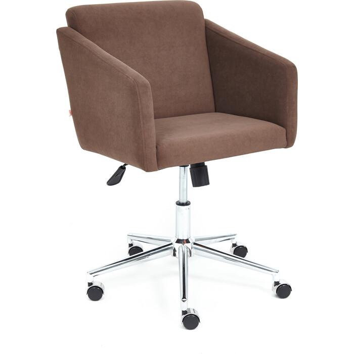 Кресло TetChair Milan хром/флок коричневый 6
