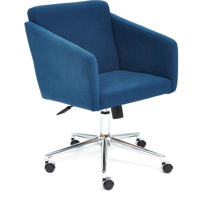 Кресло TetChair Milan хром/флок синий 32
