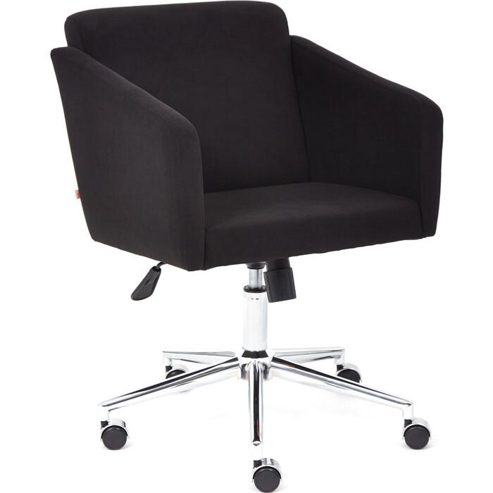 Кресло TetChair Milan хром/флок черный 35
