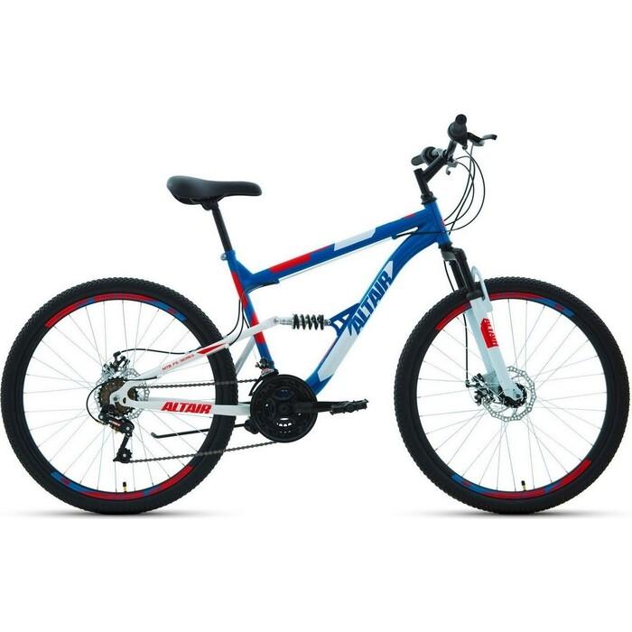 Велосипед Altair MTB FS 26 2.0 disc (2020) 18 синий\красный