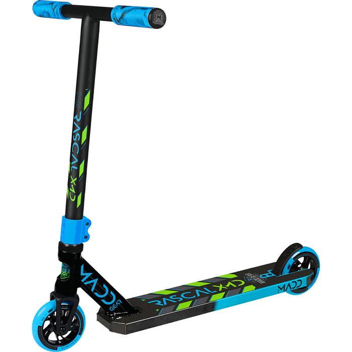 Картинка для Трюковый самокат Madd Gear Kick Rascal Scooter (2020) (сине-зеленый)