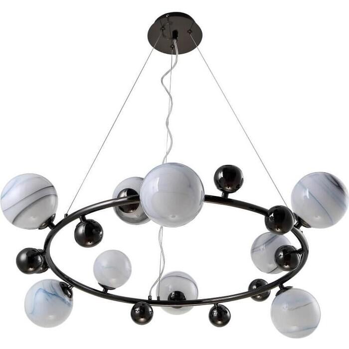 Люстра Crystal Lux Подвесная Salvadore SP9H Black Chromium