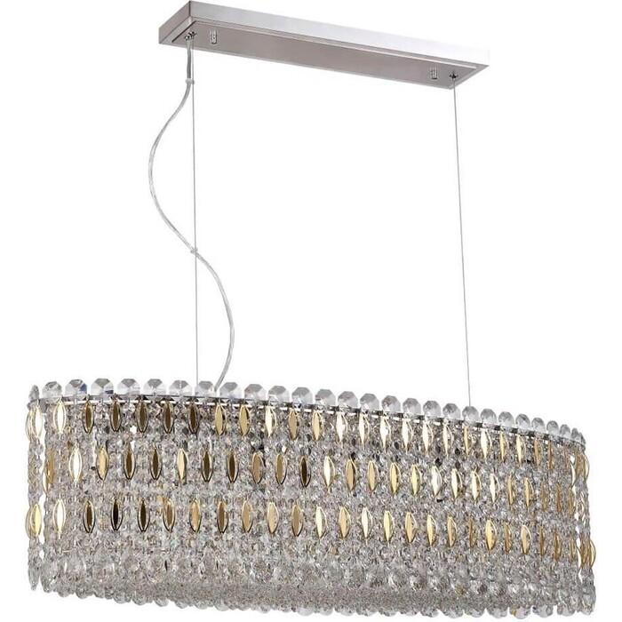 Светильник Crystal Lux Подвесной Lirica SP10 L900 Chrome/Gold-Transparent