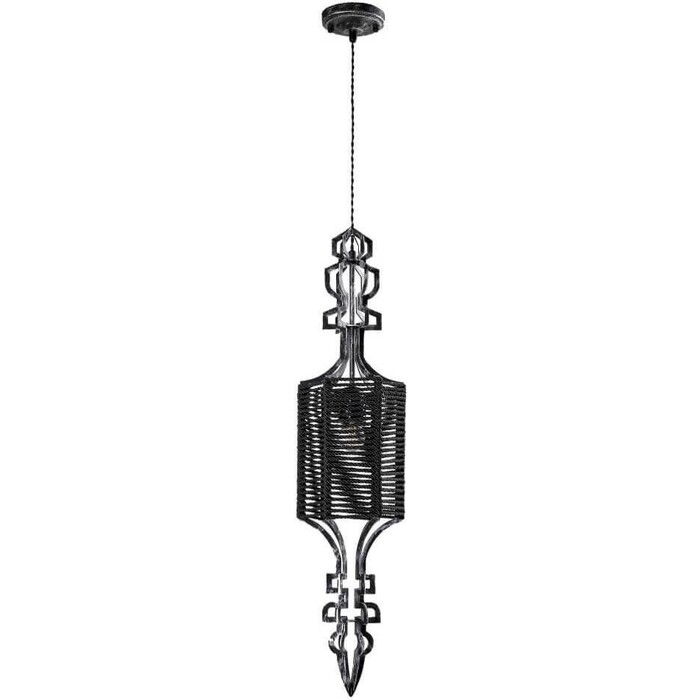 Светильник Crystal Lux Подвесной Prima SP1 B Black-Silver/Black