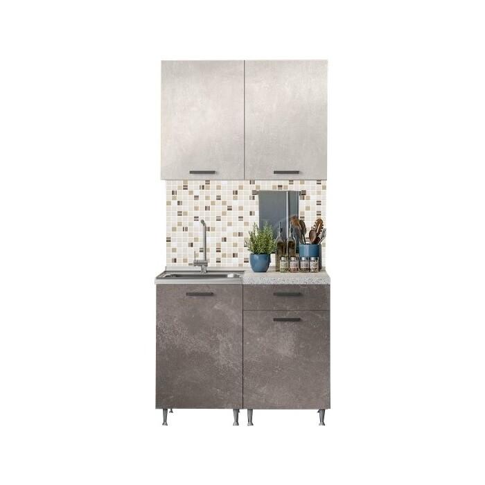 Кухня Миф Рио 1,0м бетон светлый/бетон темный ЛДСП