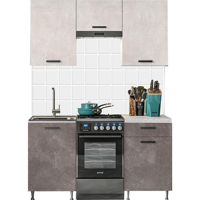 Кухня Миф Рио 1,5м бетон светлый/бетон темный ЛДСП