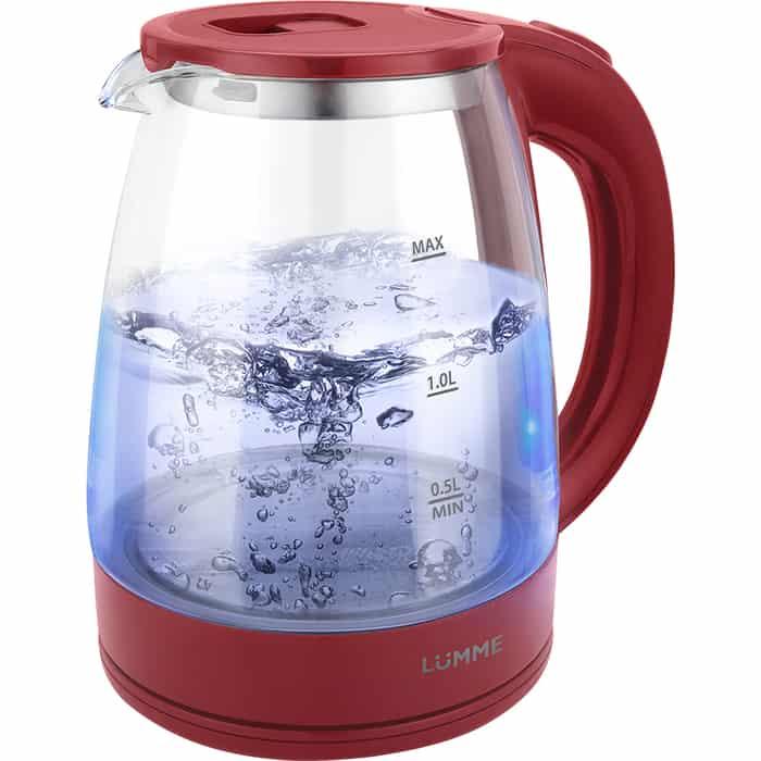 Чайник электрический Lumme LU-160 бордовый гранат миксер lumme lu 1818 бордовый гранат