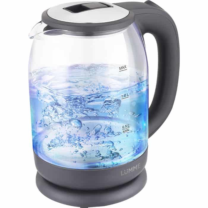 Чайник электрический Lumme LU-163 серый жемчуг