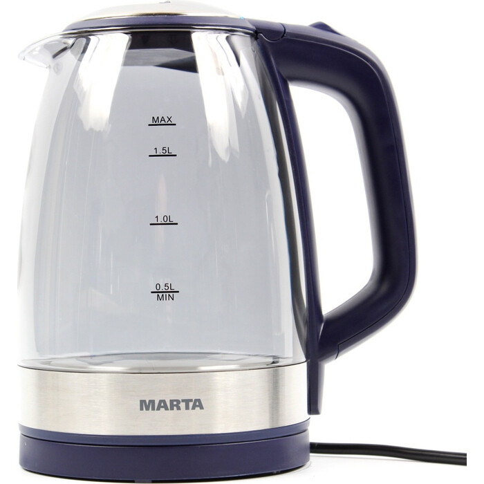 Чайник электрический Marta MT-1079 темный топаз пылесос marta mt 1362 темный топаз