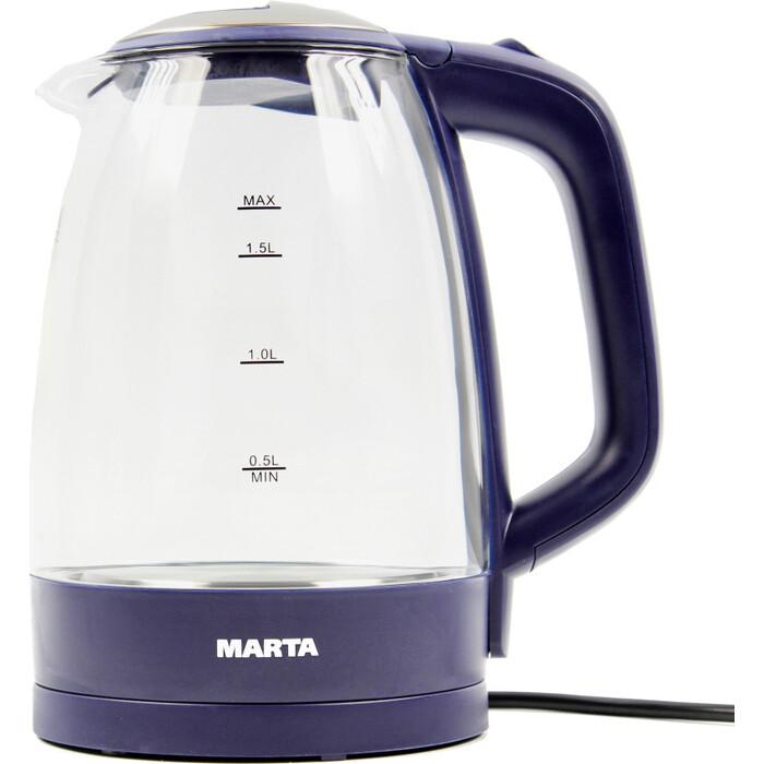 Чайник электрический Marta MT-1097 темный топаз пылесос marta mt 1362 темный топаз