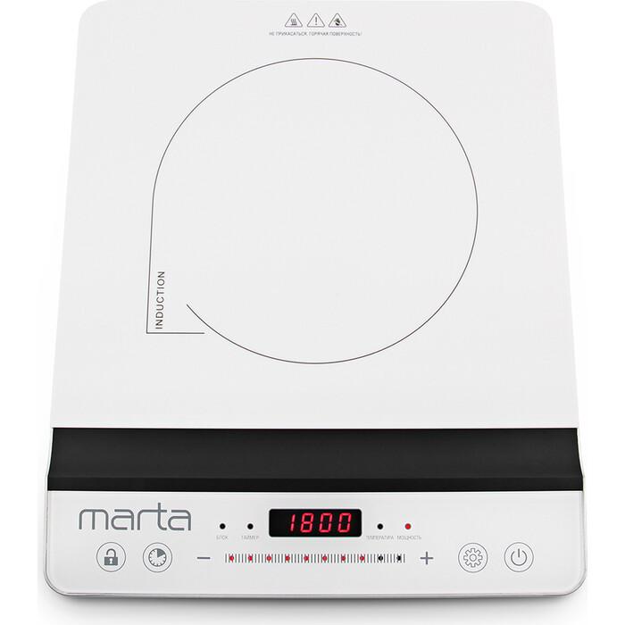 Плитка электрическая Marta MT-4210 белый жемчуг