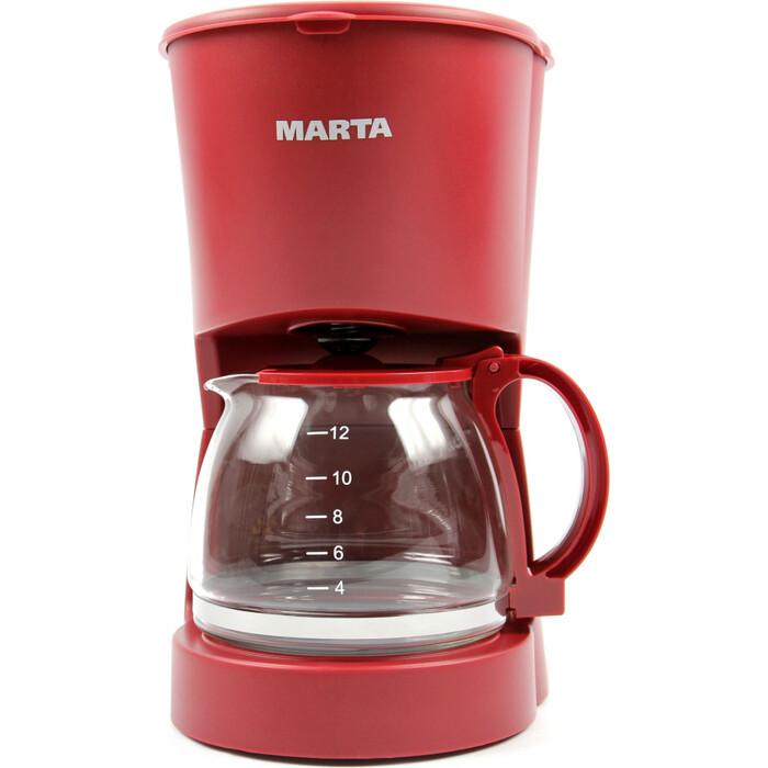 Кофеварка Marta MT-2118 бордовый гранат