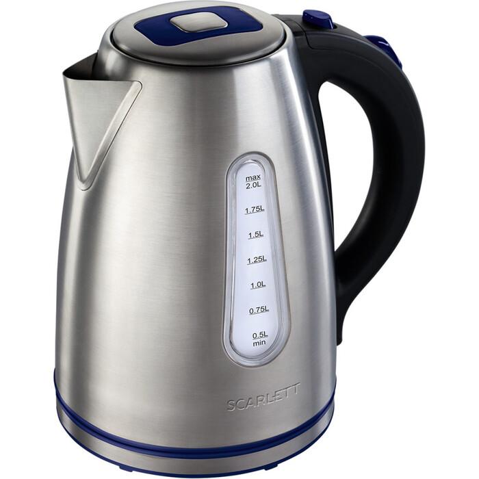 Фото - Чайник электрический Scarlett SC-EK21S57 нерж. чайник электрический scarlett sc ek27g89
