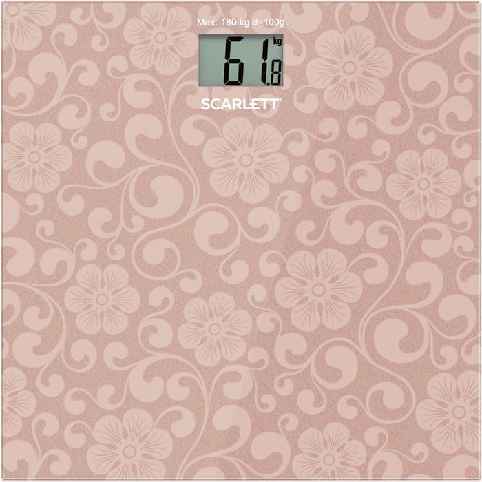 Весы напольные Scarlett SC-BS33E034 розовый
