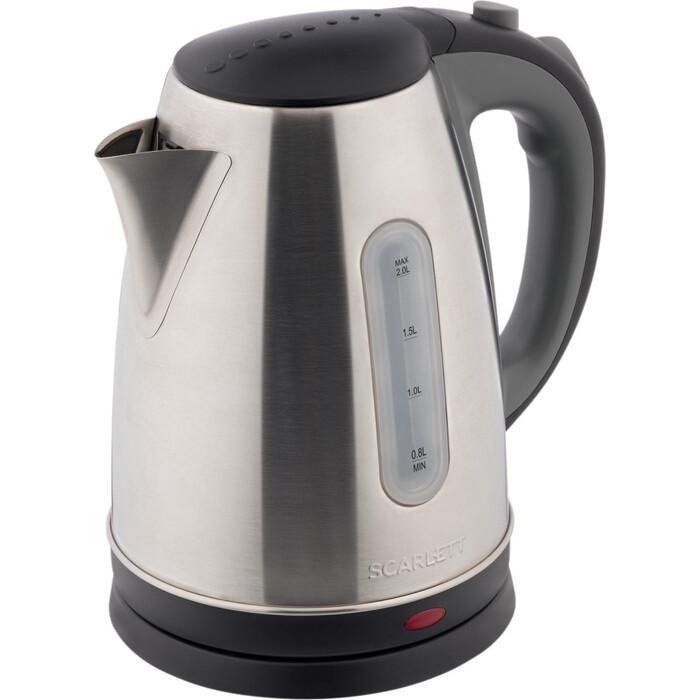 Фото - Чайник электрический Scarlett SC-EK21S97 черный серым чайник электрический scarlett sc ek18p49