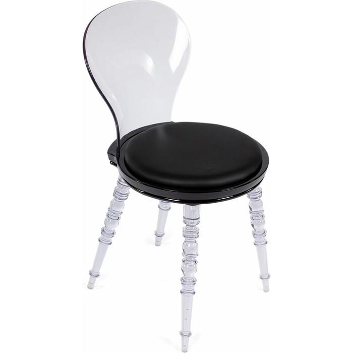 Стул Bradex Babel черный с прозрачными ножками стул bradex seven голубой с черными ножками