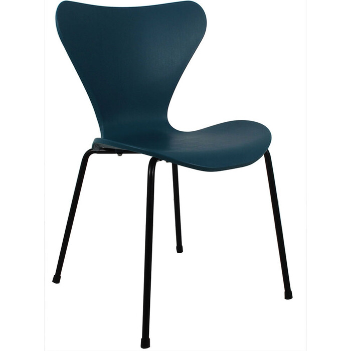 Стул Bradex Seven голубой с черными ножками стул bradex seven голубой с черными ножками