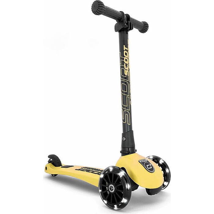 Трехколесный самокат Scoot&Ride Highway Kick 3 LED (лимон)