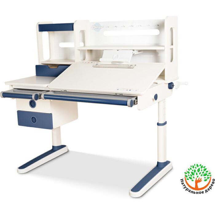 Детский стол Mealux Oxford Max BL BD-930 столешница белая (дерево)/накладки на ножках синие