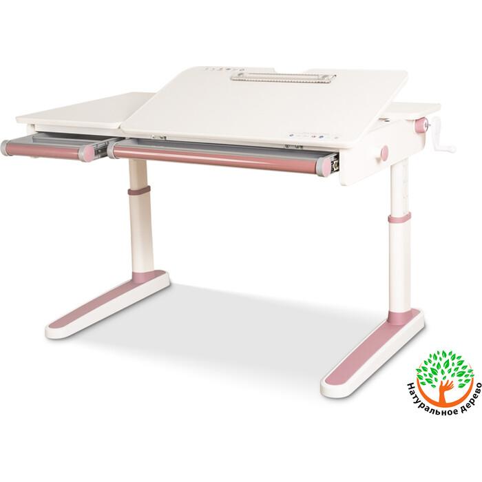 Детский стол Mealux Oxford Lite PN BD-930 столешница белая (дерево)/накладки на ножках розовые