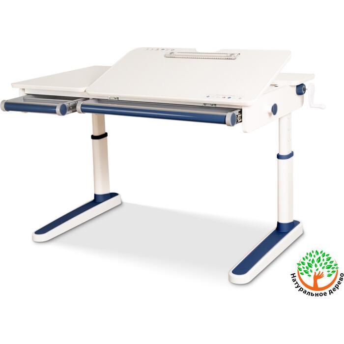 Детский стол Mealux Oxford Lite BL BD-930 столешница белая (дерево)/накладки на ножках синие
